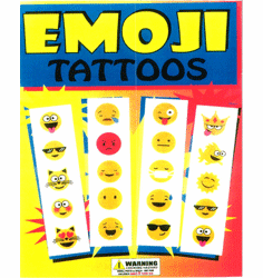 "Emoji Tattoos 1"" Toy Capsules 250pcs"