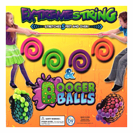 """Extreme String & Booger Balls 2"""" Toy Capsules 250 pcs"""