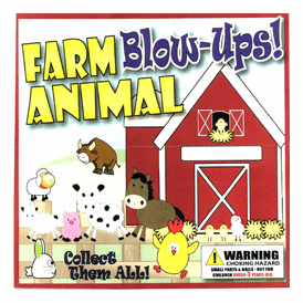 "Farm Animal Blow Ups 2"" Toy Capsules 250 pcs"