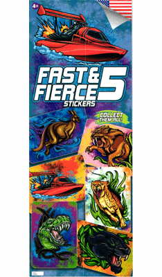 Fast & Fierce #5 Stickers 300pcs