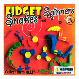"""Fidget Snakes & (10 Spinners) 2"""" Toy Capsules 250 pcs"""