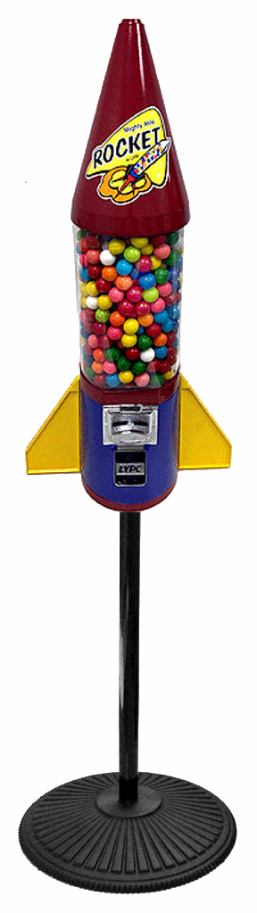 Fiesta Rocket Gumball Machine with Stand
