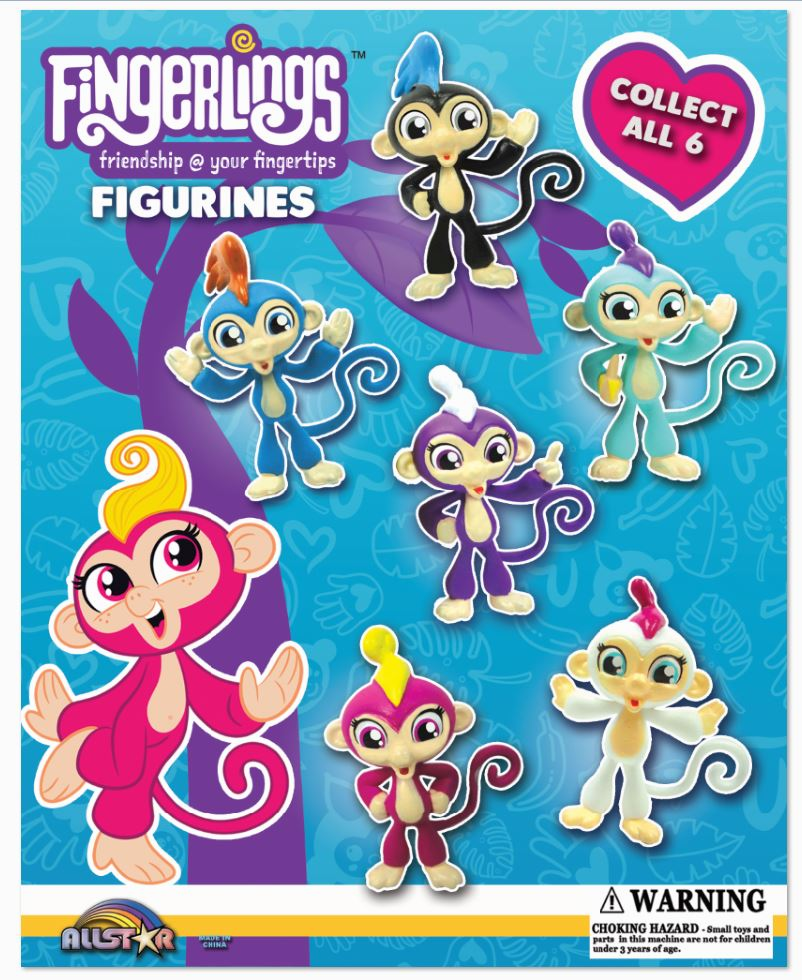 "Fingerlings Figurines 2"" Toy Capsules 250 pcs"