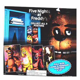 """Five Nights at Freddy's Posters 2"""" Toy Capsules 250 pcs"""