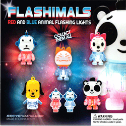 "Flashimals Animal Flashing Lights 2"" Toy Capsules 250 pcs"
