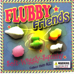 "Flubby Soft and Squishy Friends 2"" Toy Capsules 250 pcs"