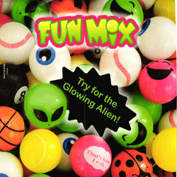 "Fun Mix Self Vend Plastic Balls 2"" Toy Capsules 200 pcs"