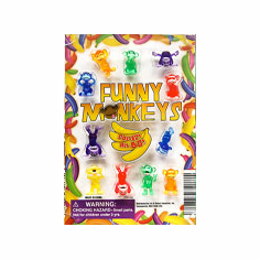 "Funny Monkey 1"" Toy Capsules 250pcs"