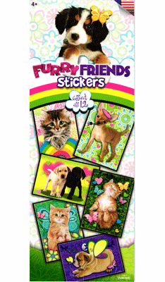 Furry Friends Stickers 300pcs