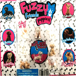 "Fuzzy Friends Puppies 2"" Toy Capsules 250 pcs"