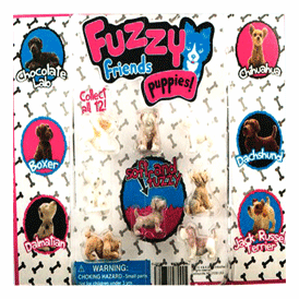 """Fuzzy Friends Puppies 2"""" Toy Capsules 250 pcs"""