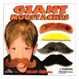 """Giant Mustaches 2"""" Toy Capsules 250 pcs"""