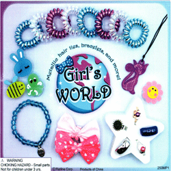 "Girls Jewelry Mix & More 2"" Toy Capsules 250 pcs"