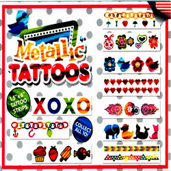"Girls Matallic Tattoo Mix 2"" Toy Capsules 250 pcs"