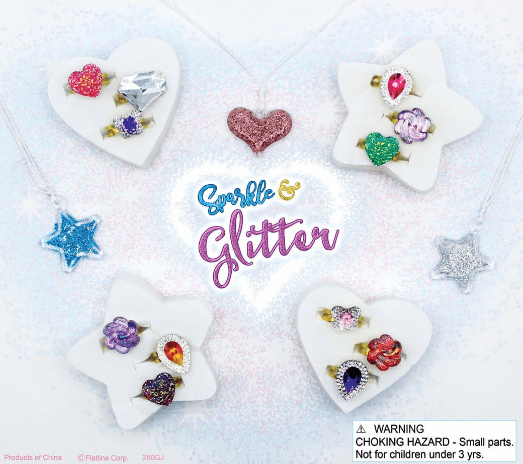 """Glitter Jewelry Mix & More 2"""" Toy Capsules 250 pcs"""
