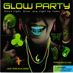 "Glow Party Light Up Items 2"" Toy Capsules 250 pcs"