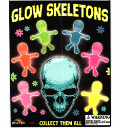 "Glow Skeletons 1"" Toy Capsules 250pcs"
