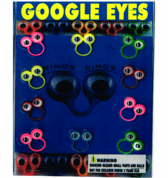 "Google Eyes 1"" Toy Capsules 250pcs"