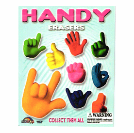 "Handy Erasers 1"" Toy Capsules 250pcs"