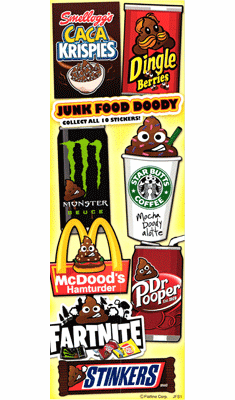 Junk Food Doody Stickers 300pcs