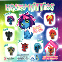 "Krazy Kitties 2"" Toy Capsules 250 pcs"