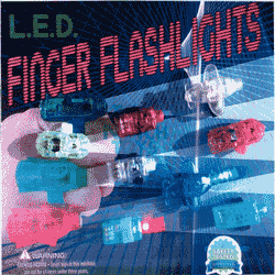 "Laser  Finger Ring Flashlights  2"" Toy Capsules 250 pcs"