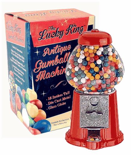 "Lucky King 15"" Antique Gumball Machine"