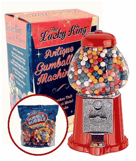 "Lucky King 15"" Antique Gumball Machine With 53oz Gumballs"