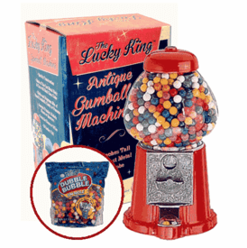 """Lucky King 15"""" Antique Gumball Machine With 53oz Gumballs"""