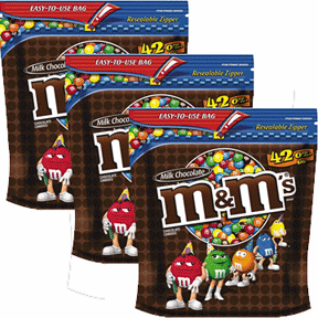 M&M 's Plain 3 Pack 126oz