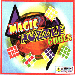 "Magic Puzzle Cubes 2"" Toy Capsules 250 pcs"