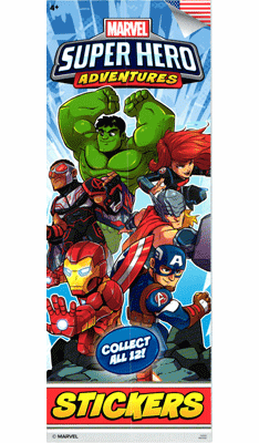 Marvel Super Hero Adventures Stickers 300pcs