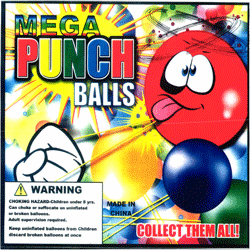 "Mega Punch Balls 2"" Toy Capsules 250 pcs"