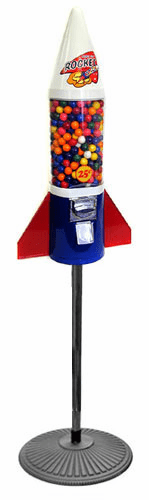 Mighty Mite Rocket Gumball Machine with Stand