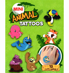 "Mini Animal Tattoos 1"" Toy Capsules 250pcs"