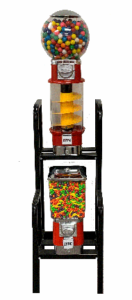 Mini Spiral Combo Gumball Candy Machines