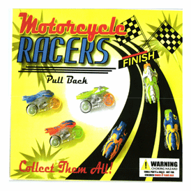 """Motorcycle Pull Back Racers  2"""" Toy Capsules 250 pcs"""
