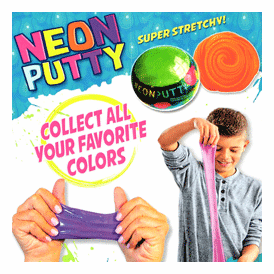"""Neon Putty Super Stretchy 2"""" Toy Capsules 200 pcs"""