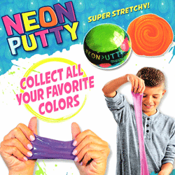 "Neon Putty Super Stretchy 2"" Toy Capsules 200 pcs"
