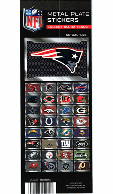 NFL Logo Metal Plate Stickers 300pcs
