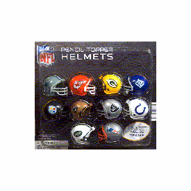 """NFL Pencil Toppers Helmets  2"""" Toy Capsules 250 pcs"""