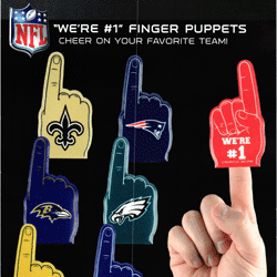 "NFL We're #1 Finger Puppets 2"" Toy Capsules 250 pcs"