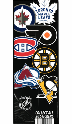 NHL Die Cut Hockey Stickers 300pcs