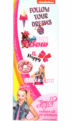 Nickelodeon JoJo Siwa Follow Your Dreams Stickers 300pcs