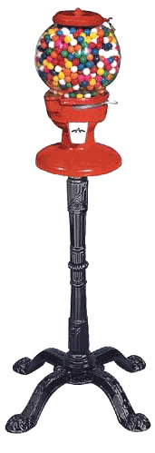 Old Columbia Gumball Machine with Stand