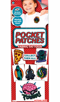 Pocket Patches Fabric Tattoos Tattoos 300pcs
