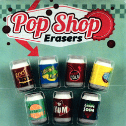 "Pop Shop Erasers 2"" Toy Capsules 250 pcs"