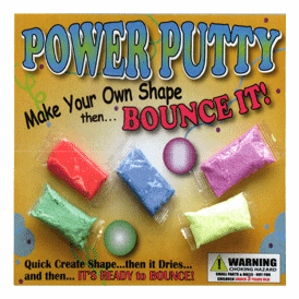 """Power Bouncy Putty 2"""" Toy Capsules 250 pcs"""