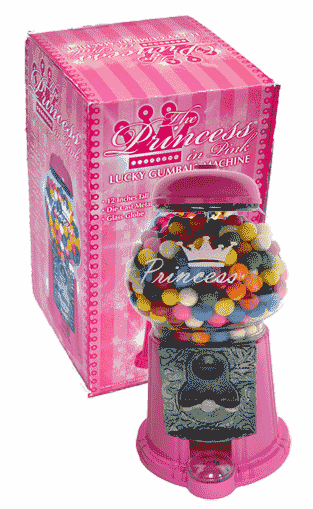 Princess in Pink Gumball Machine 11""
