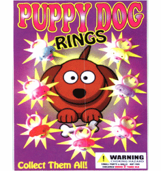 "Puppy Dog Rings 1"" Toy Capsules 250pcs"
